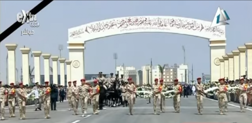 From the military funeral of Hisham Barakat, June 30