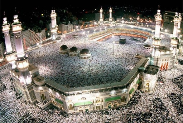 Mecca during Ramadan celebrations