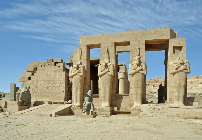 The Ramesseum in Luxor