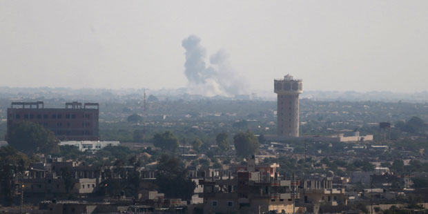 Smoke Rises In Egypt's North Sinai As Seen From The Border Of Southern Gaza Strip With Egypt – REUTERS