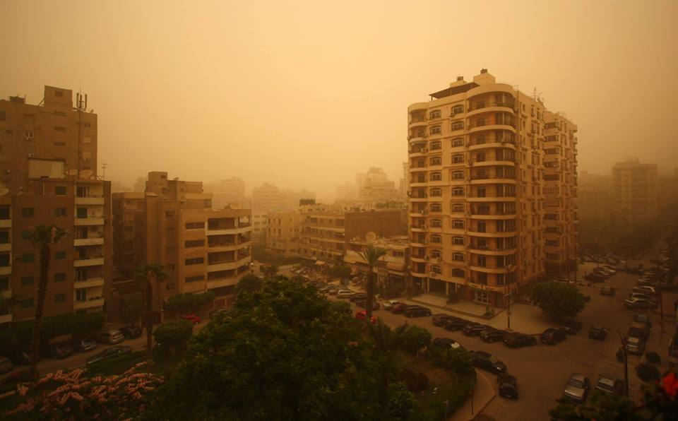 A sandstorm covered Cairo on June 27, paralleled with an earthquake that hit Sinai on the same day. Credit: Enas El Masry