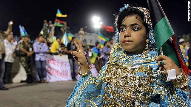 A Berber girl dressed in traditional attire at a Berber cultural festival in Tripoli, Libya. Credit: AFP/Getty Images