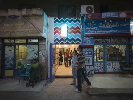 The entrance of Zaywa in Downtown Cairo