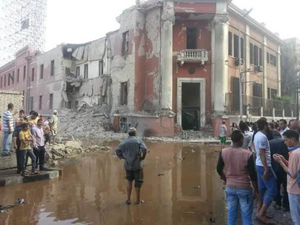 The Italian Consulate in Cairo saw grave damage to its visage after a bombing that took place on July 11