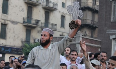Egyptian protesters march for greater protections for religious minorities, October 10, 2011. Photo: Omar Robert Hamilton / flickr