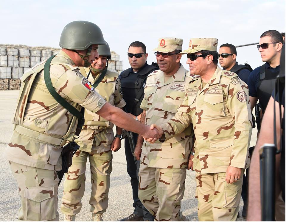 Egypt's Sisi Visits North Sinai as Commander-in-Chief in