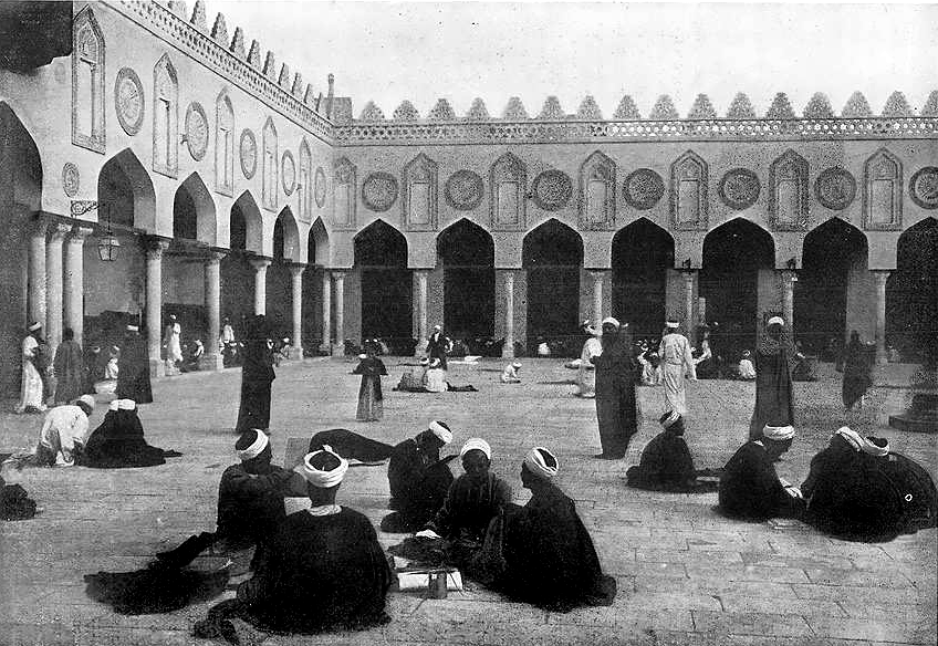 The courtyard of al-Azhar University in 1912