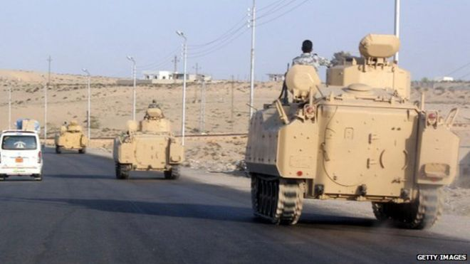 Three army officers and a soldier killed in western Egypt