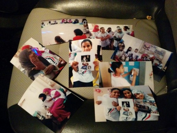 The students are also given photos to remind them of their time with Heya Masr and to remind them of their achievements