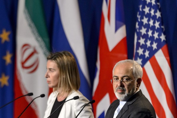 Iranian Foreign Minister Javad Zarif and EU foreign policy chief Federica Mogherini praised the deal early Tuesday