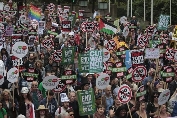 An anti-austerity march in London earlier last month attracted roughly 250,000 people