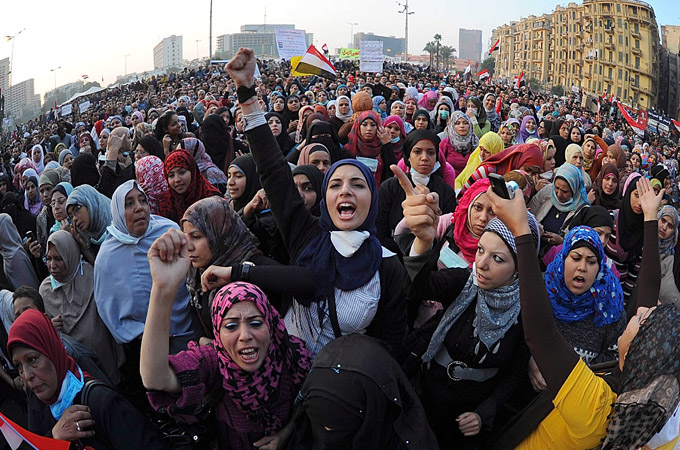 Women protesters in Tahrir square in Cairo, Egypt, 22 November 2011. Credit: Mohamed Omar/ EPA