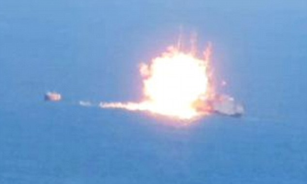 Screenshot of Egyptian naval vessel from video allegedly released by Ansar Bayt al-Maqdis