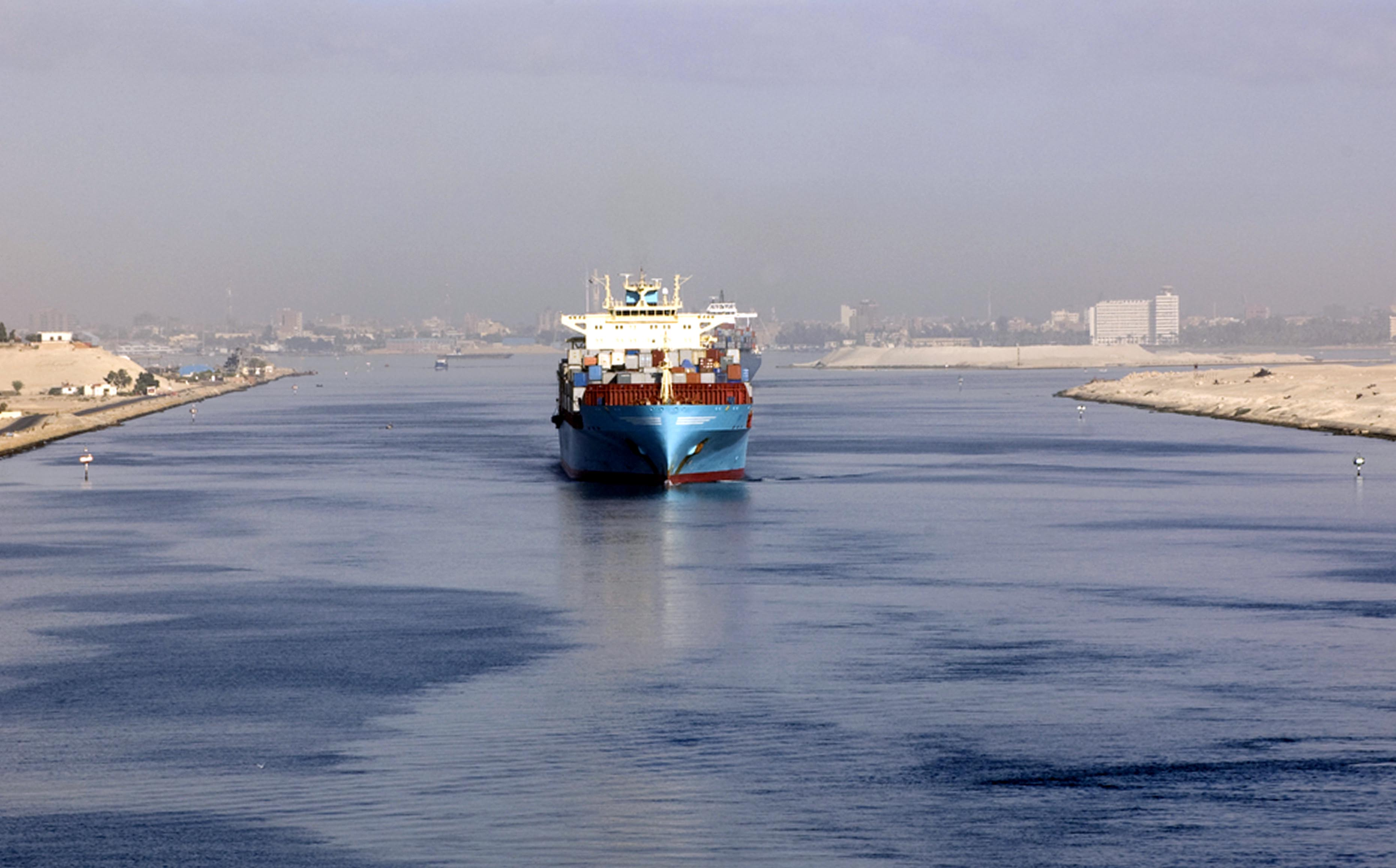 Egypt's New Suez Canal saw the passage of three container ships on its first day of trials. Source: Shutterstock