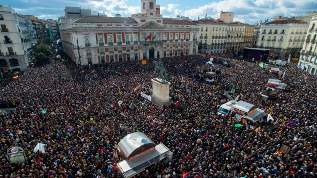 Anti austerity protests are growing in other countries across Europe, such as Spain