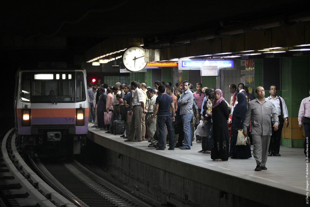 The underground metro is one of Cairo's most popular means of transportation, costing only EGP 1 ($US 0.13) per ride. Credit: Peter Macdiarmid/ Getty Images