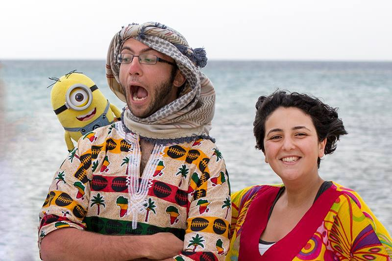 Kevin (left), Ahmed Hayman (center), and Judy (right) at Marsa Alam
