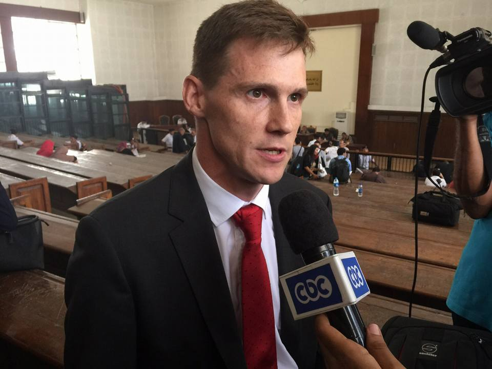UK Ambassador in Cairo, John Casson, after Saturday's verdict against the al-Jazeera journalists. [Courtesy of UK Embassy in Cairo]