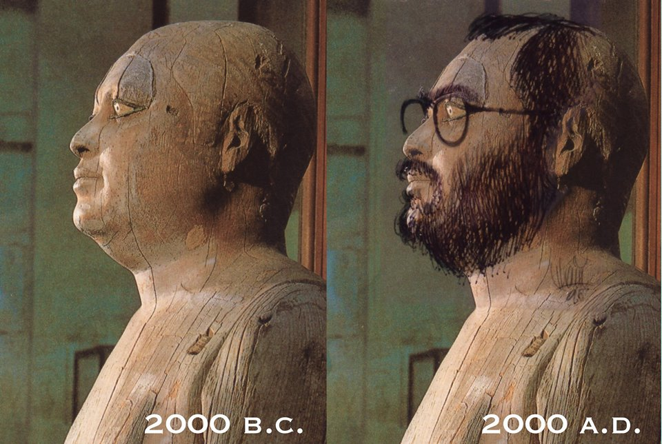 "By sketching a beard and specs on the statue of the Ancient Egyptian scribe, Hani tried to convince Spielberg that his knowledge of the ancient civilization was accurate because ""I was there."""