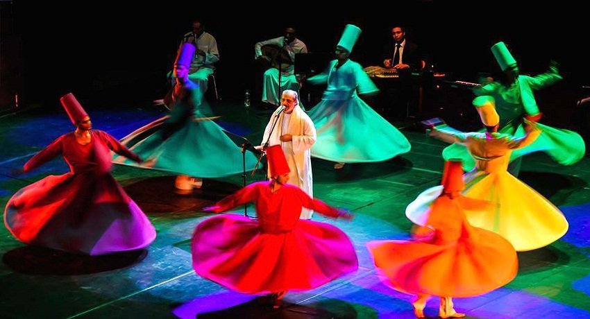 Al-Mawlawiyya al-Masriya during a performance in Egypt
