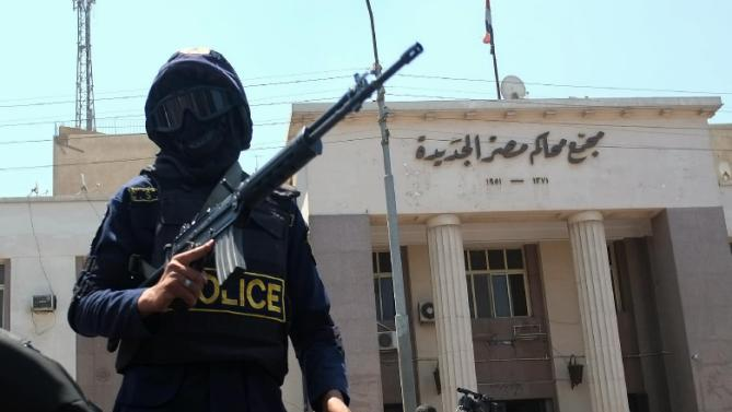 Archive photo of a security officer in Egypt.