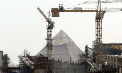 The site of the Grand Egyptian Museum, located near the Giza Pyramids. (AP Photo/Amr Nabil)