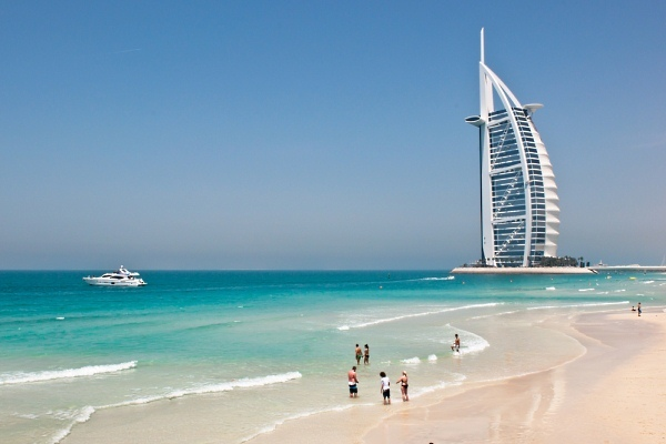 Archive photograph of a Dubai beach.