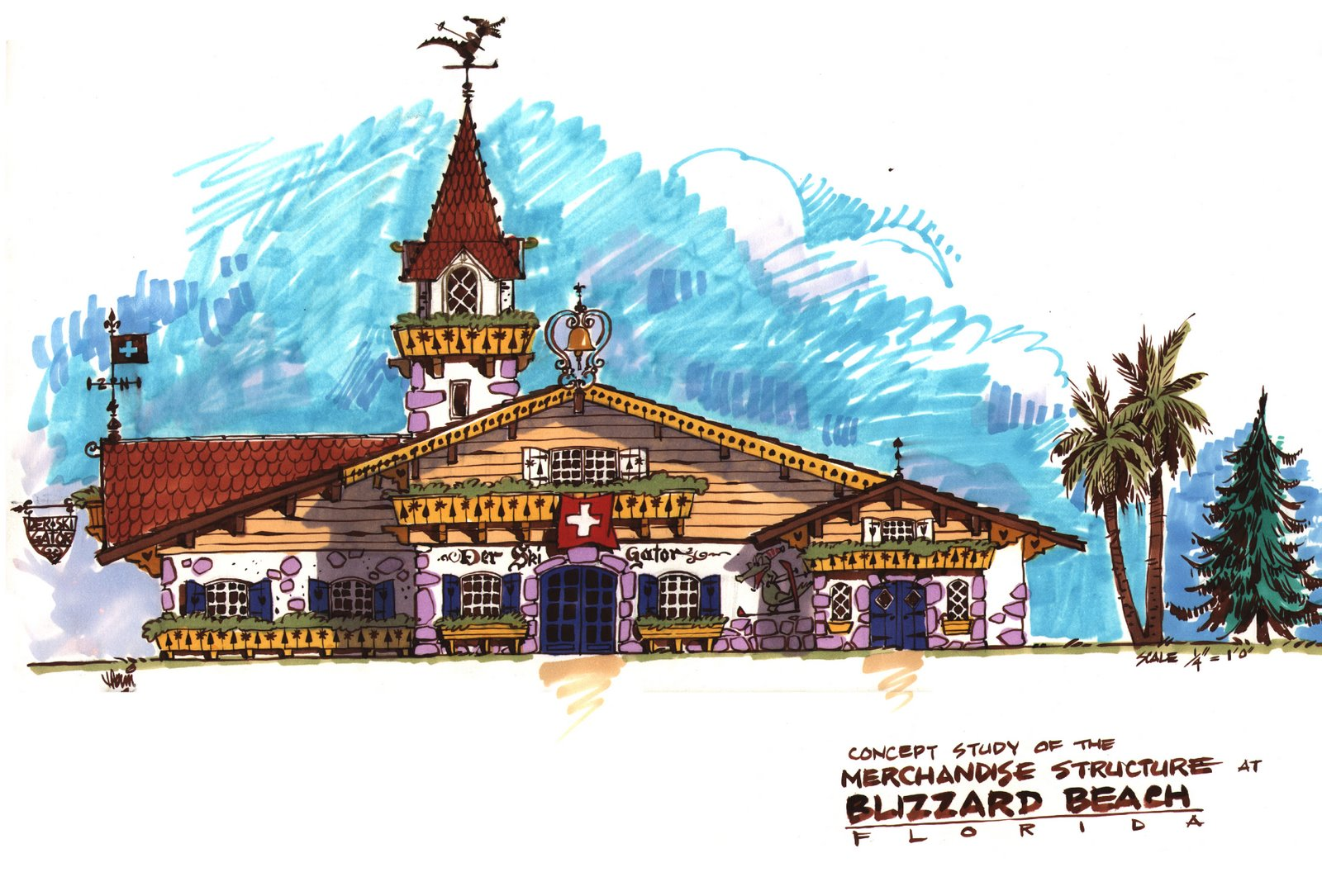 Concept for the Blizzard Beach at Florida's Disney World Resort