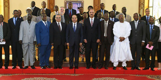 Abdel Fatah Al-Sisi During His Meeting With Editors-In-Chief Of Various African Newspapers. Source: Presidential Office