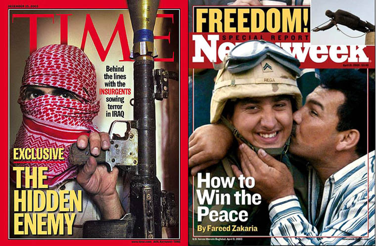 Iraq War as portrayed on two popular American news magazines