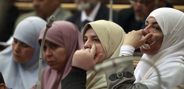 Female Members of the 2012 Parliament attend a parliament session in Cairo. Credit: Reuters