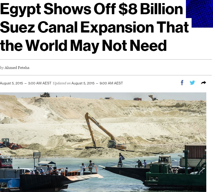 Foreign news outlets analyze Egypt's New Suez Canal