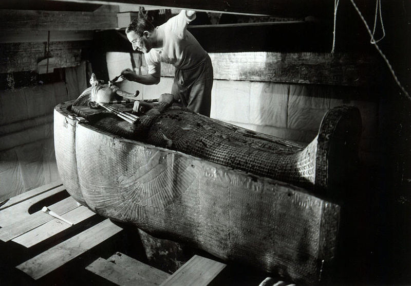 Howard Carter after unearthing the tomb of Tutankhamin in 1922
