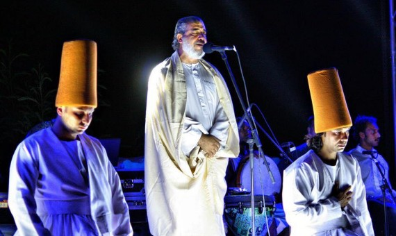 Eltony during a Sufi performance combining inshad and the whirling of dervishes