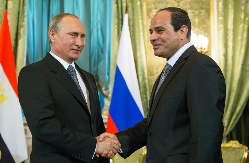 Putin and Sisi meet in Moscow, marking the fourth time since 2014 that the two leaders have met. (AP)