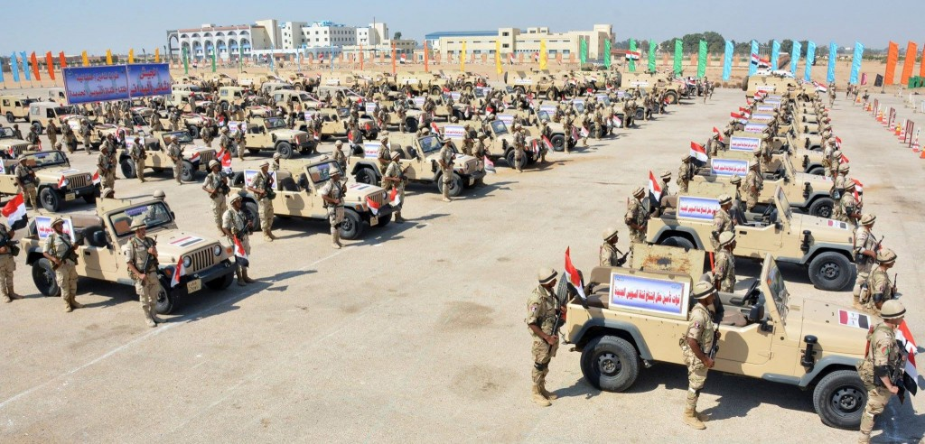 Military prepares to secure the opening ceremony of Egypt's New Suez Canal.