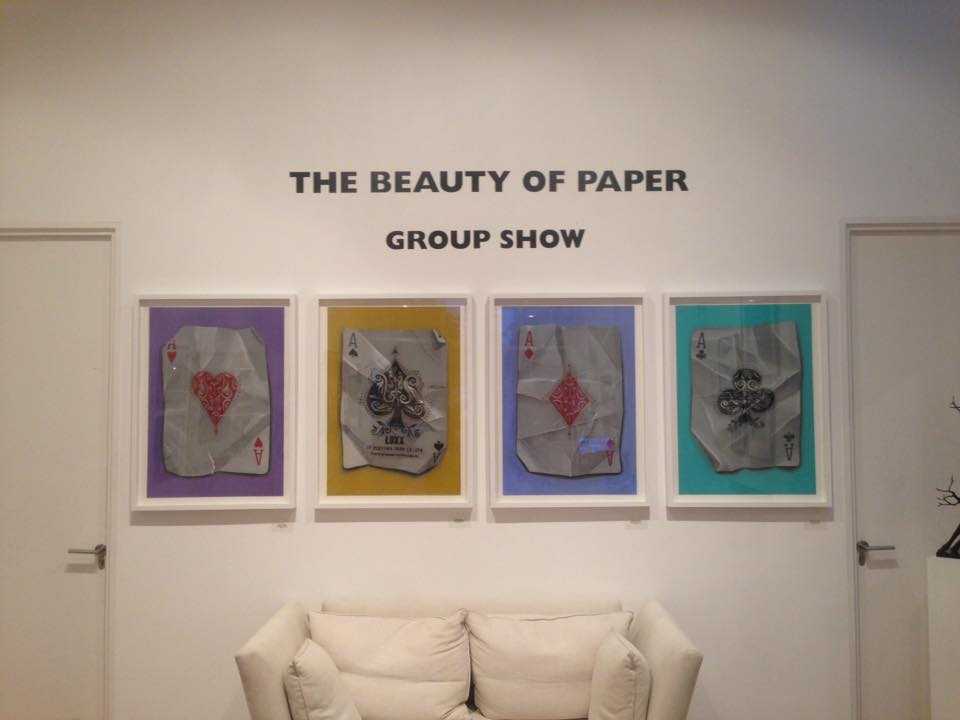 "Hammad's artwork is on display at London's Plus One Gallery as part of the group show ""The Beauty of Paper"" until September 26. Courtesy of Nourine Hammad"