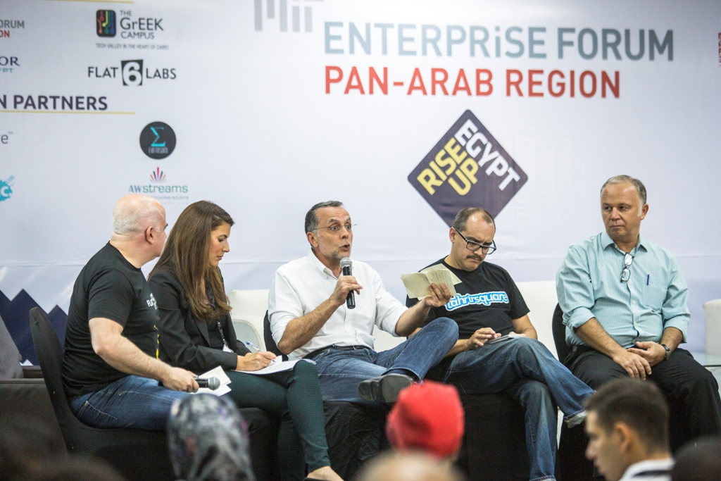 Panel discussion on the state of entrepreneurship in the MENA-region at RiseUp 2014
