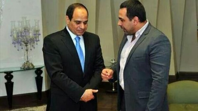 President Abdel Fattah El Sisi with radio and television presenter Youssef Al Hossainy in New York City