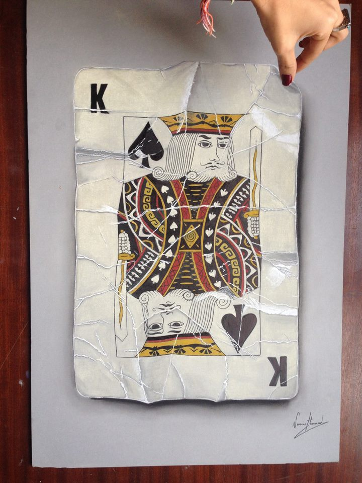 'King of Spades', one of Hammad's exhibited artwork in London