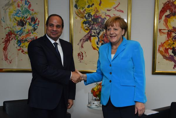 Sisi and German Chancellor Angela Merkel