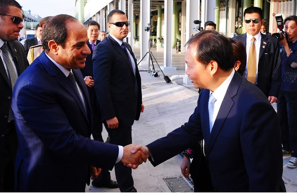 President Abdel Fattah al-Sisi in Singapore, the first stop of an Asia tour that started on August 30, 2015. Presidency handout