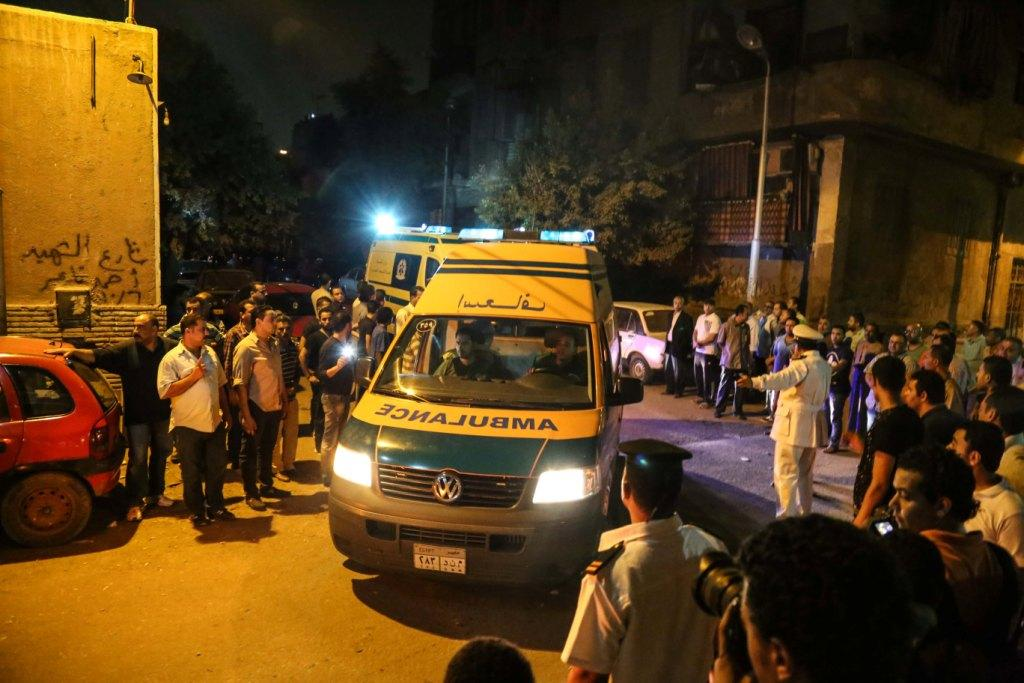 The dead bodies of Mexican tourists being transferred in ambulance to the morgue in Cairo, September 14, 2015 - Mohamed al-Rai/Aswat Masriya