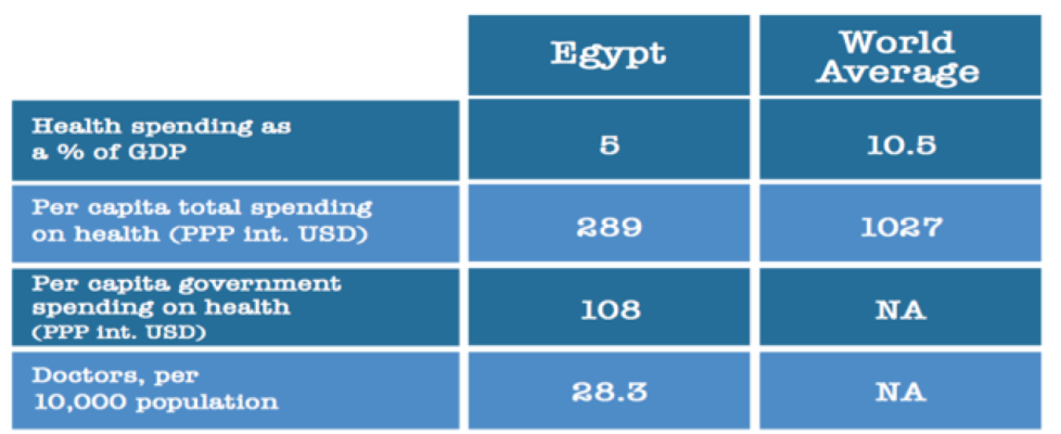 Figure 3: Egypt Vs World Average Source: Central Bank of Egypt