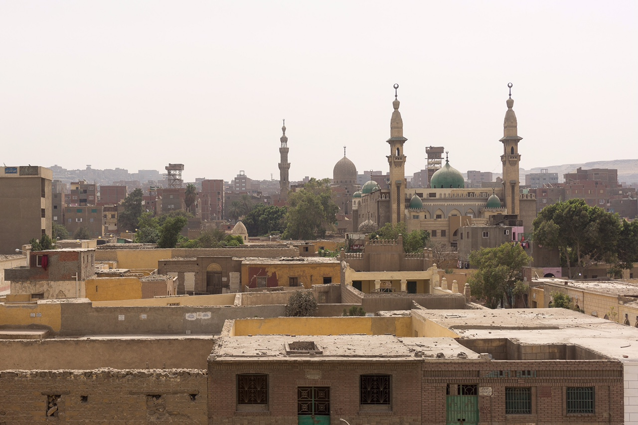 View of Cairo's Northern Cemetery, also known as The City of Dead where Hassan's workshop is located