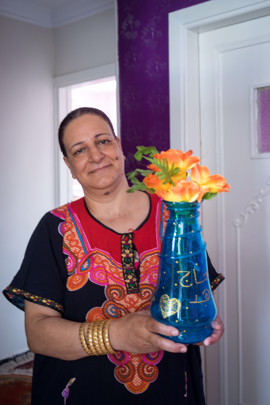 Hassan's wife with her own work
