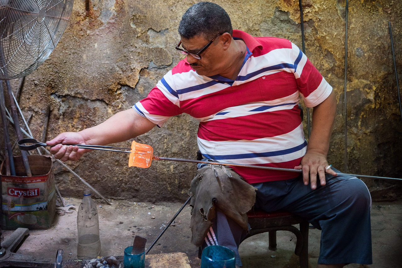 Hassan Hodhod started glassblowing at the age of eight, taking after his father, and grandfather before him.
