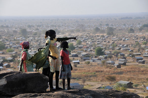 Girls look out over Juba, the capital of South Sudan. (Photo: D. Hakes/The Carter Center)