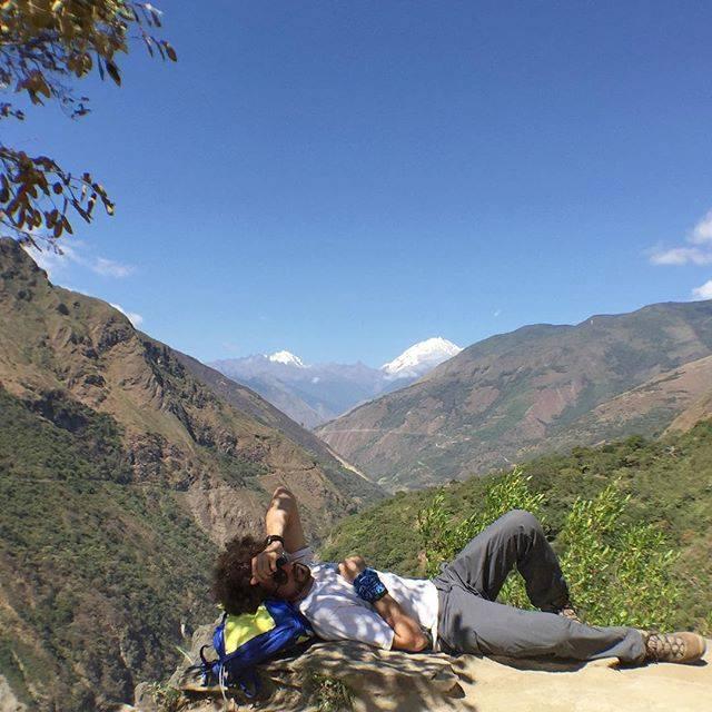 Samra during one the Wild Guanabana (the adventure travel agency he runs) journeys in Peru