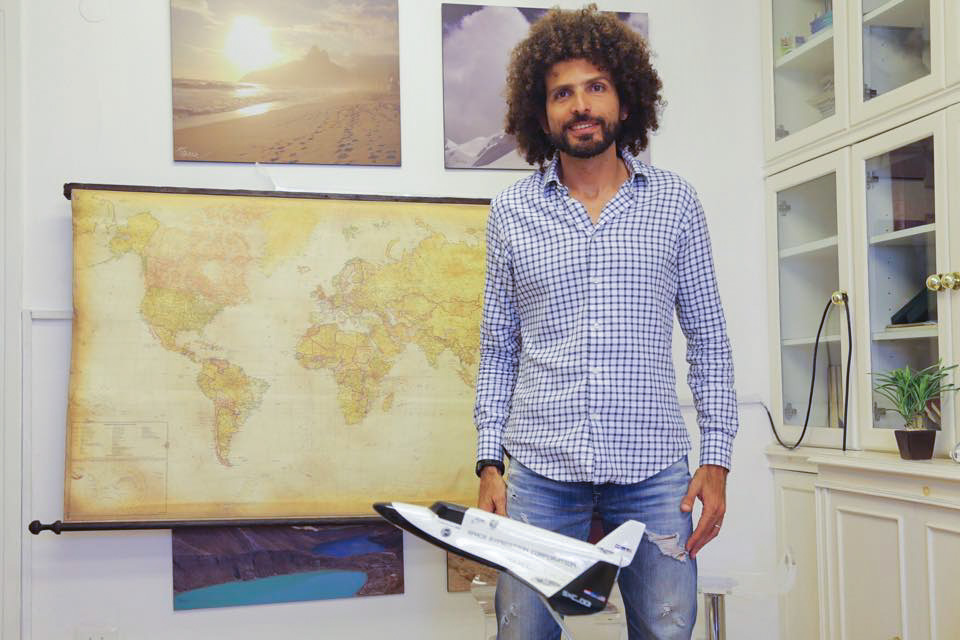 Omar Samra at the Wild Guanabana office. Credit: Nour El Din